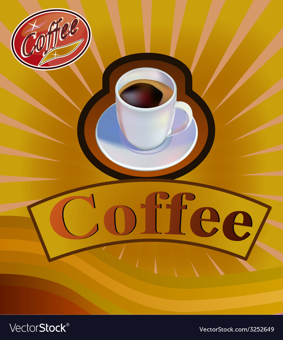 Coffee cup menu vector | Price: 1 Credit (USD $1)