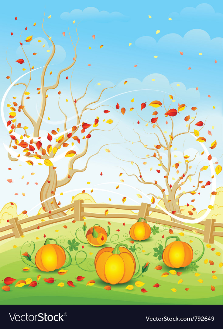 Country autumn vector | Price: 3 Credit (USD $3)
