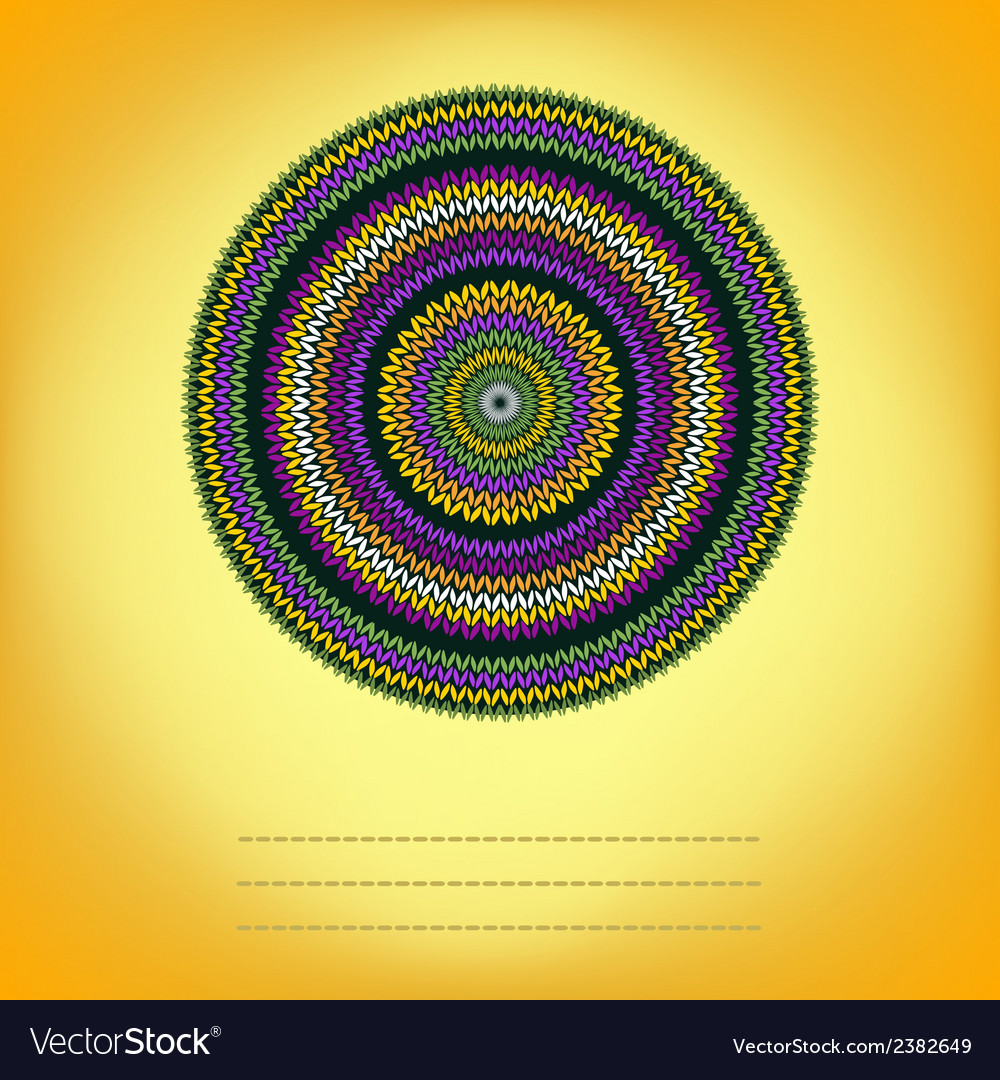 Cover background with ornamental round knitted vector   Price: 1 Credit (USD $1)