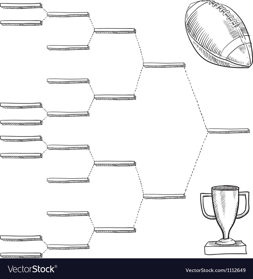 Doodle sports bracket nfl vector | Price: 1 Credit (USD $1)