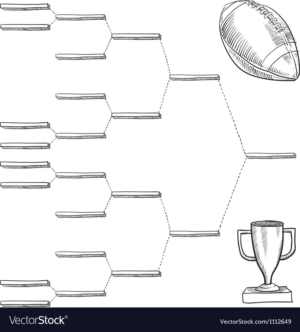 Doodle sports bracket nfl vector | Price: 1 Credit (USD $1)