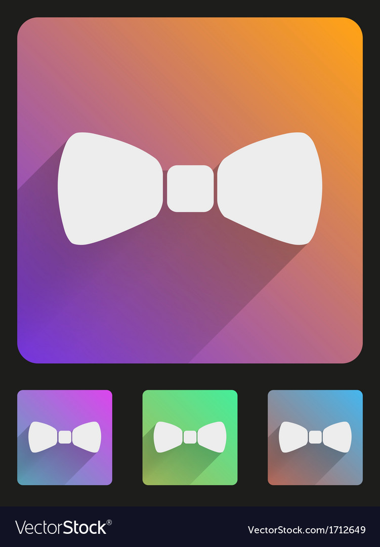 Flat icon set bow tie for web and application vector | Price: 1 Credit (USD $1)
