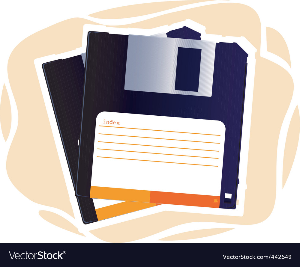 Floppy disc vector | Price: 1 Credit (USD $1)