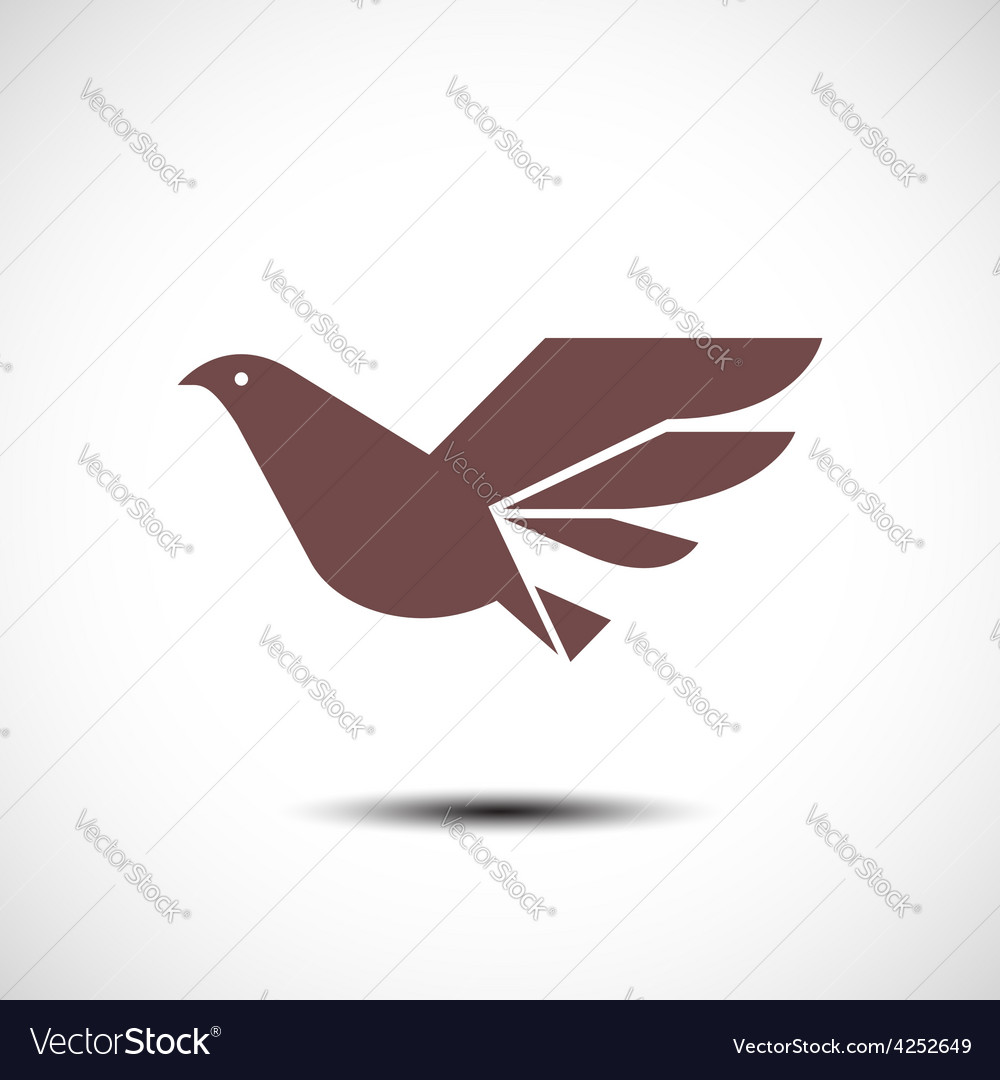 Flying bird abstract icon vector   Price: 1 Credit (USD $1)