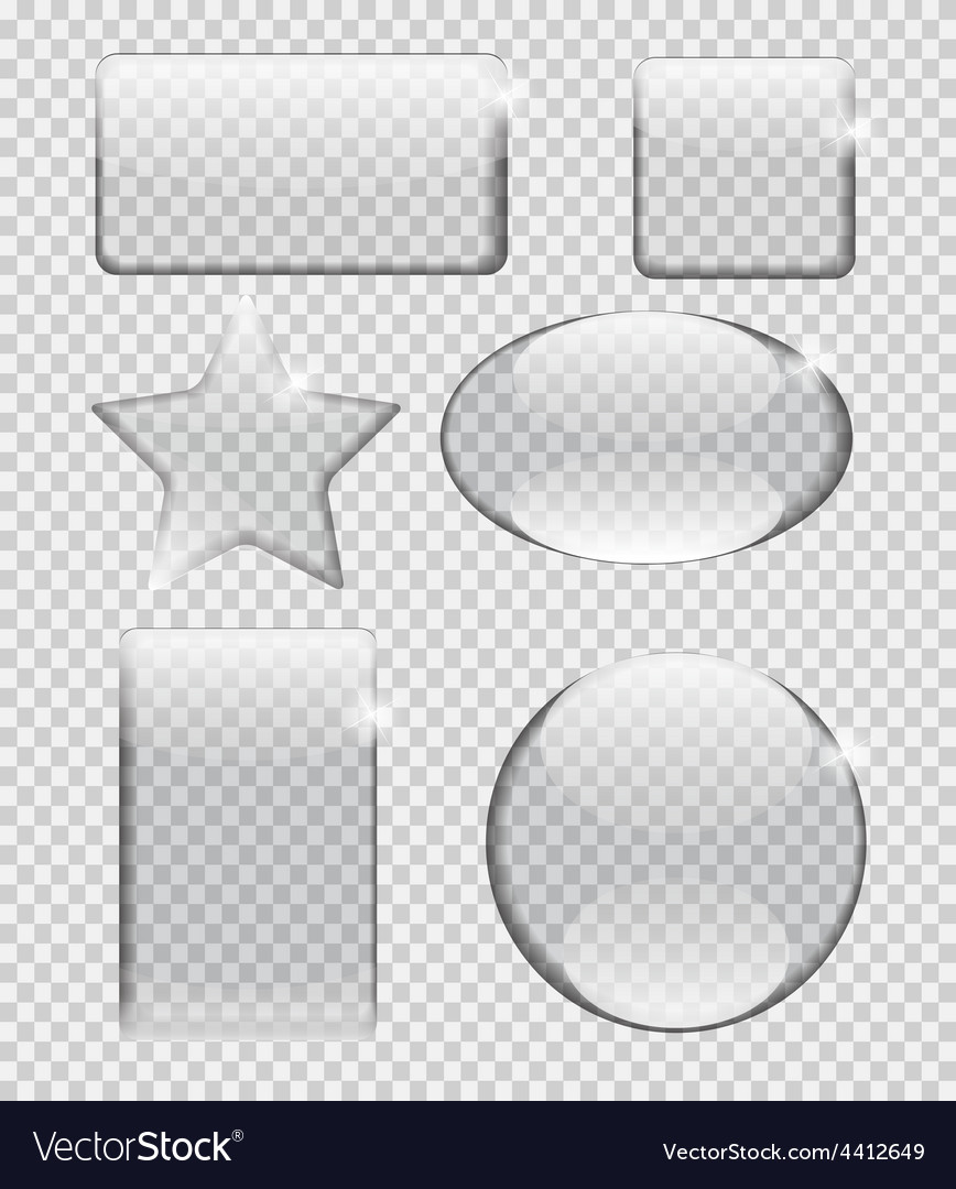 Glass transparency frame vector | Price: 1 Credit (USD $1)