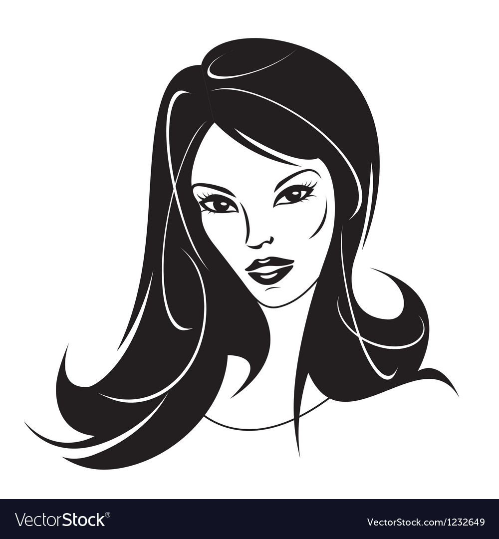 Modern girl with a new hairstyle vector | Price: 1 Credit (USD $1)