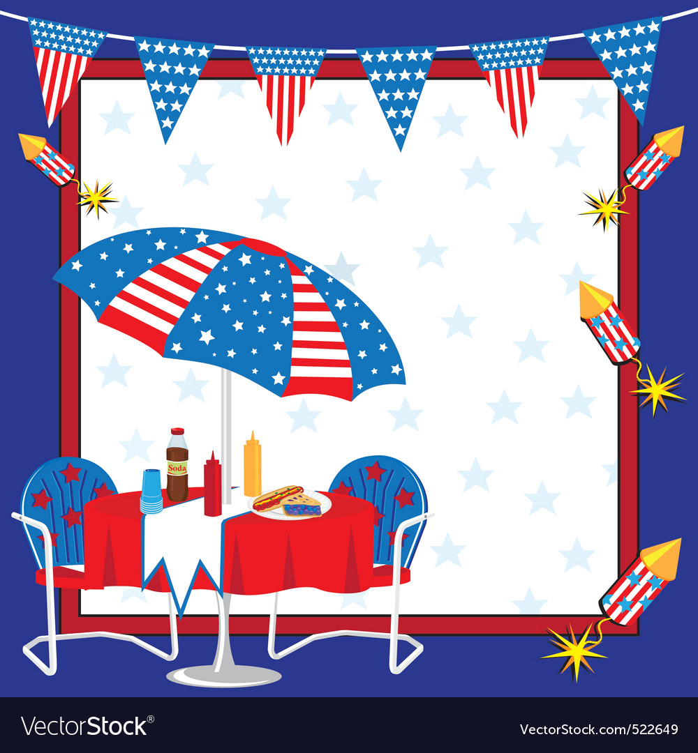 Patriotic picnic vector | Price: 3 Credit (USD $3)