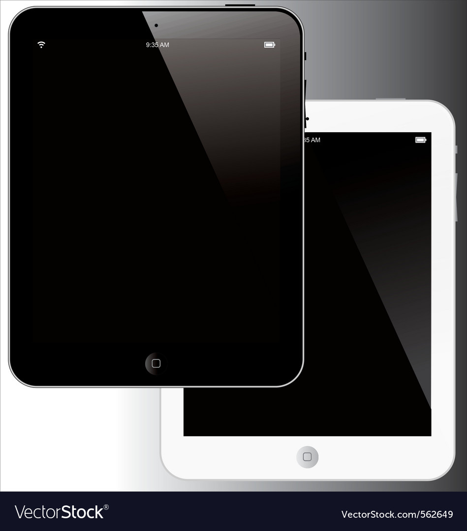 Tablet computer vector | Price: 3 Credit (USD $3)