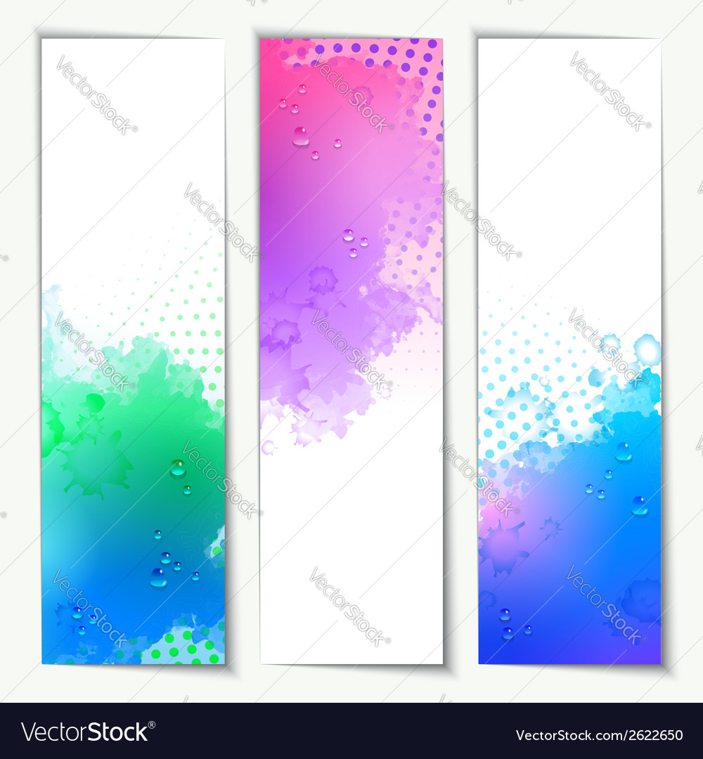 Abstract watercolor headers vector | Price: 1 Credit (USD $1)