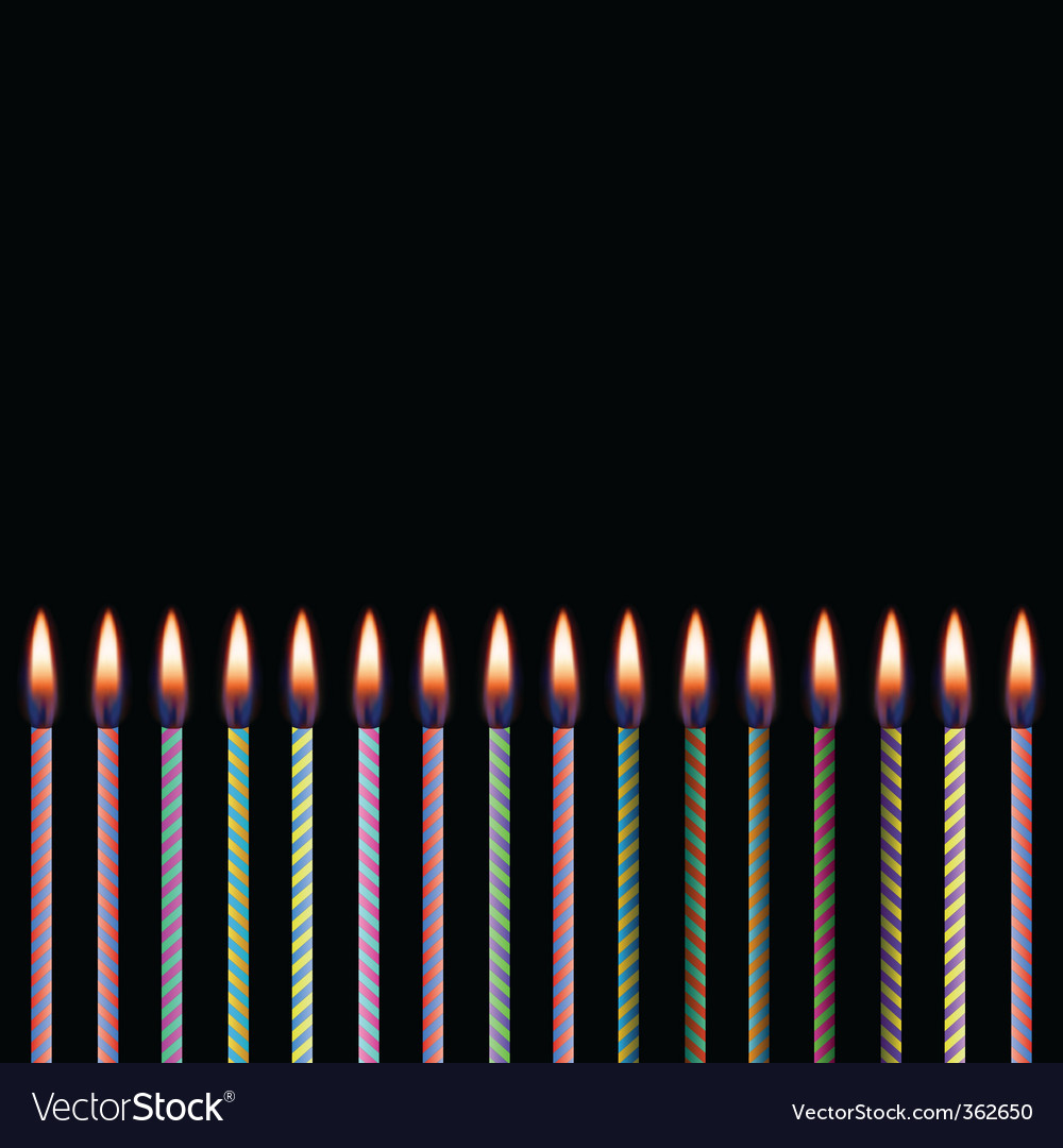 Celebratory candles vector | Price: 1 Credit (USD $1)