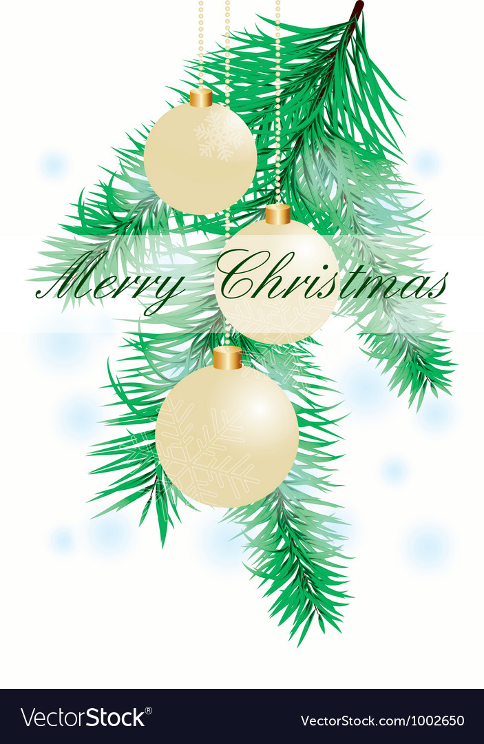 Christmas background with evening balls vector | Price: 1 Credit (USD $1)