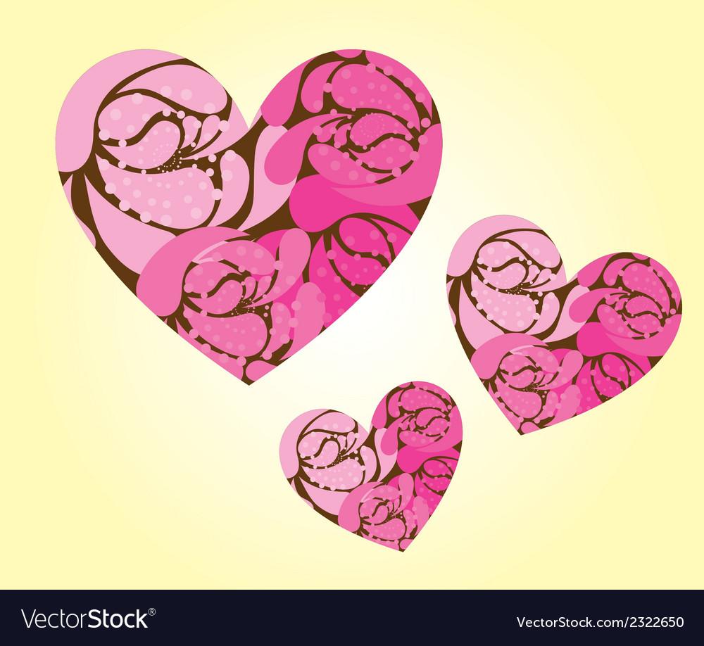 Cute hearts vector | Price: 1 Credit (USD $1)