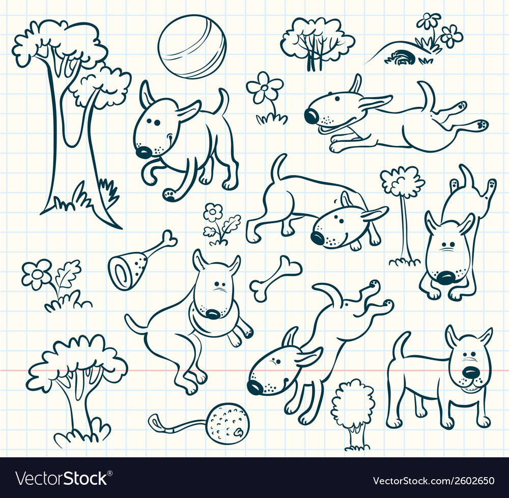 Dogs set vector | Price: 1 Credit (USD $1)
