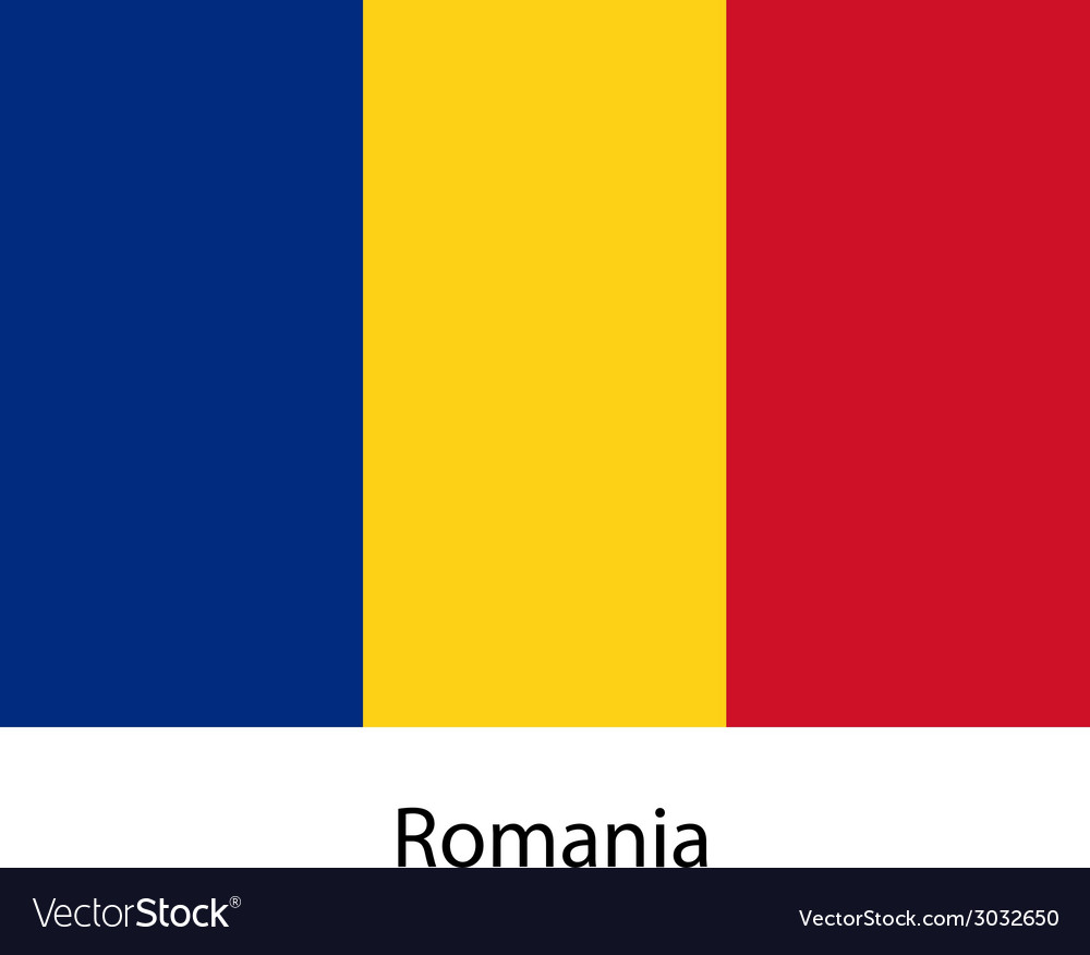 Flag of the country romania vector | Price: 1 Credit (USD $1)