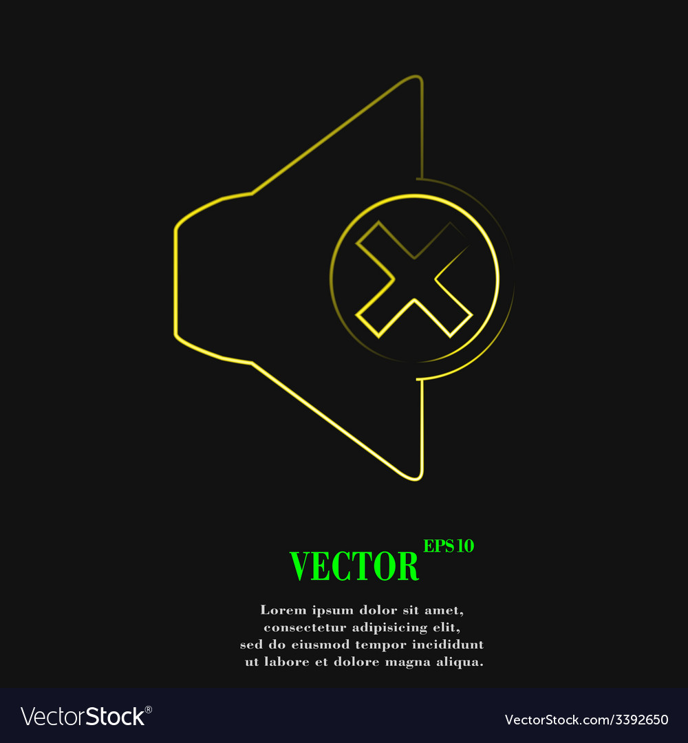 Mute speaker icon symbol flat modern web design vector   Price: 1 Credit (USD $1)