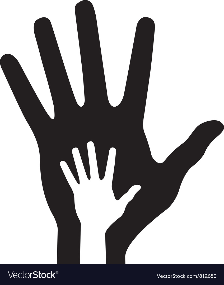 Parent hand with baby hand vector | Price: 1 Credit (USD $1)