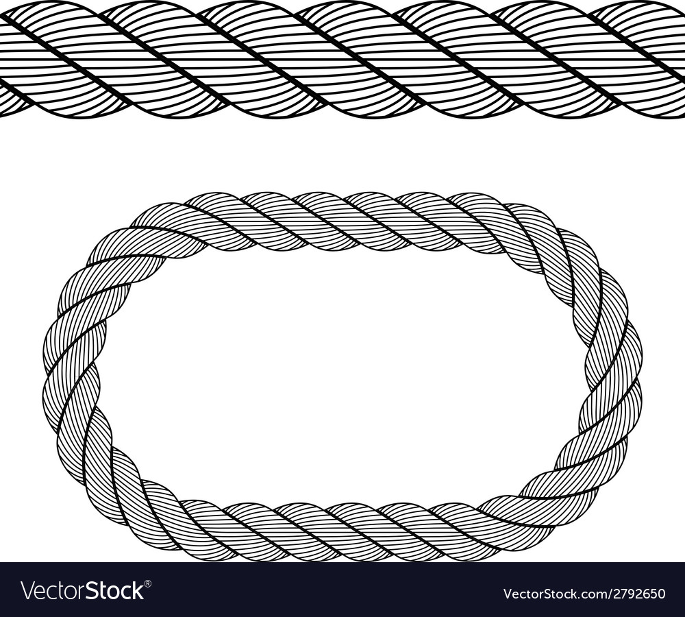 Seamless black rope symbol vector | Price: 1 Credit (USD $1)