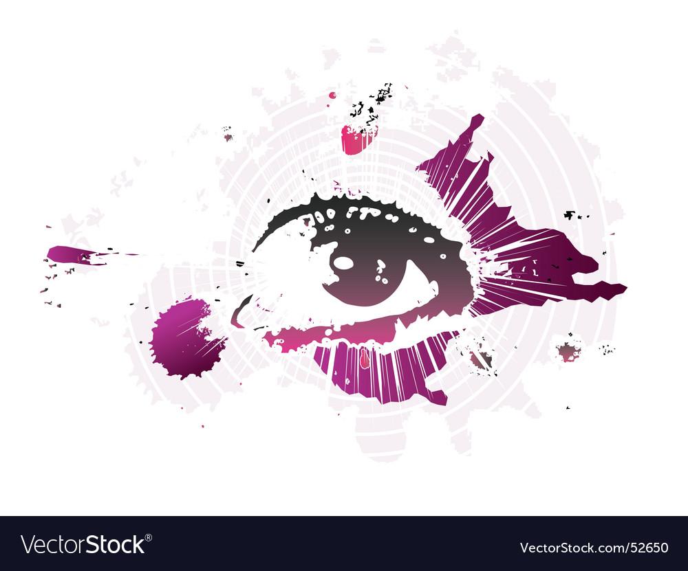 Splash eye vector | Price: 1 Credit (USD $1)