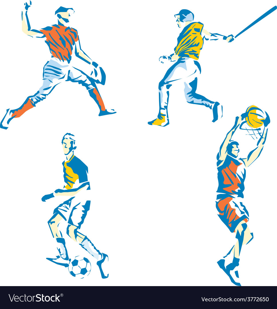 Sports stylized vector | Price: 1 Credit (USD $1)