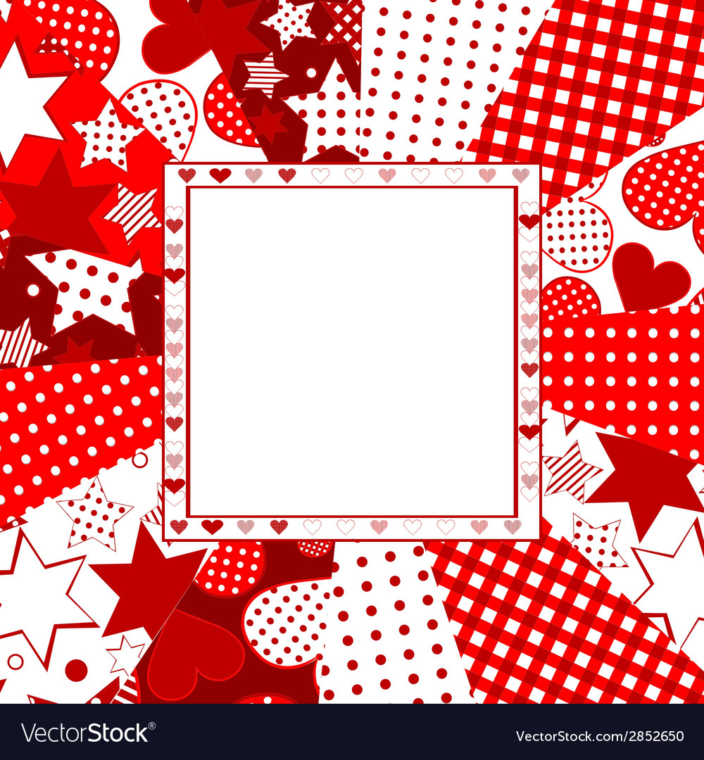 Valentine celebration card with hearts stars and vector | Price: 1 Credit (USD $1)