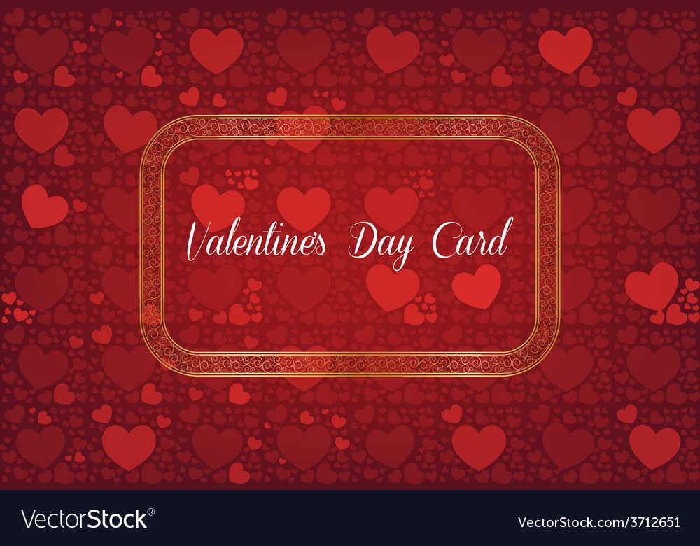 Abstract decorative valentines day card vector | Price: 1 Credit (USD $1)