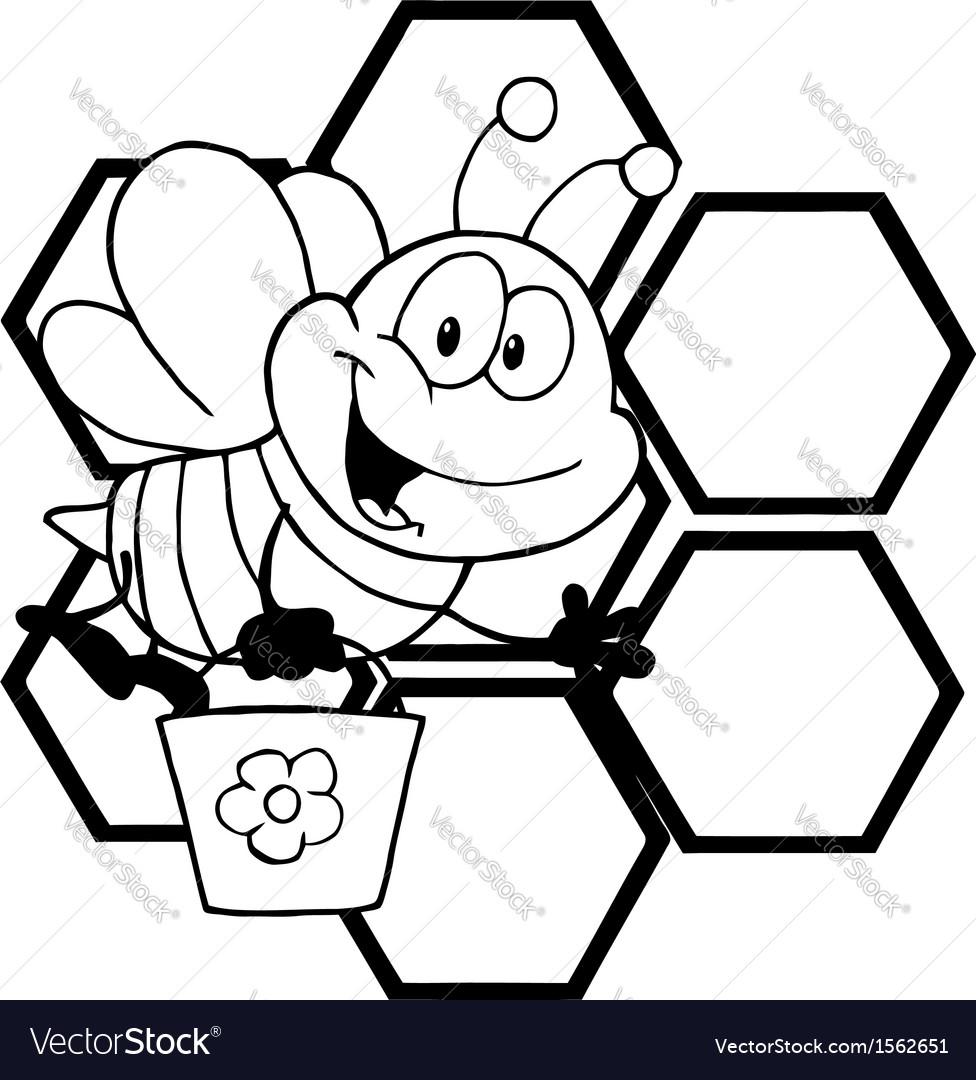 Cartoon bee hive vector | Price: 1 Credit (USD $1)