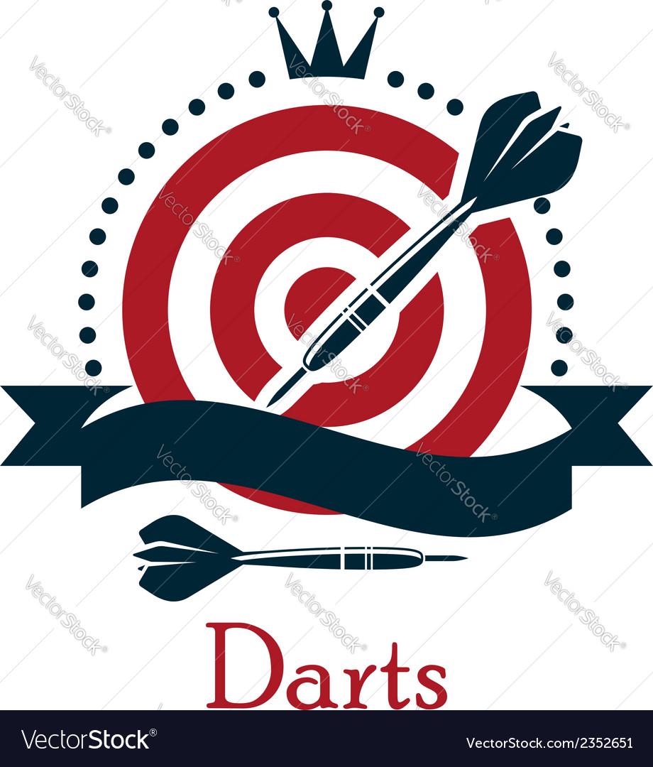 Darts championship emblem vector | Price: 1 Credit (USD $1)