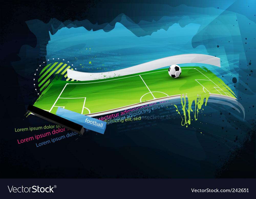 Football field graffiti vector   Price: 3 Credit (USD $3)