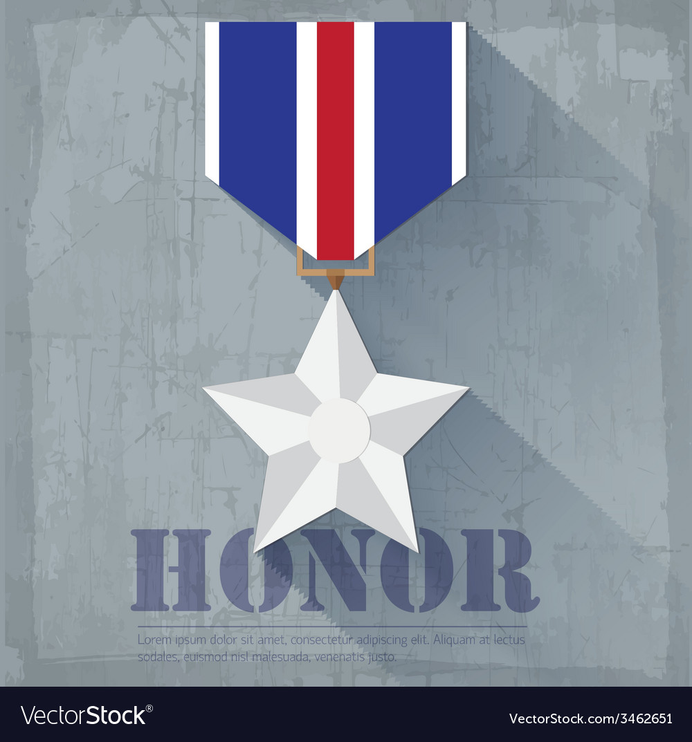 Grunge military honor medal icon background vector | Price: 1 Credit (USD $1)