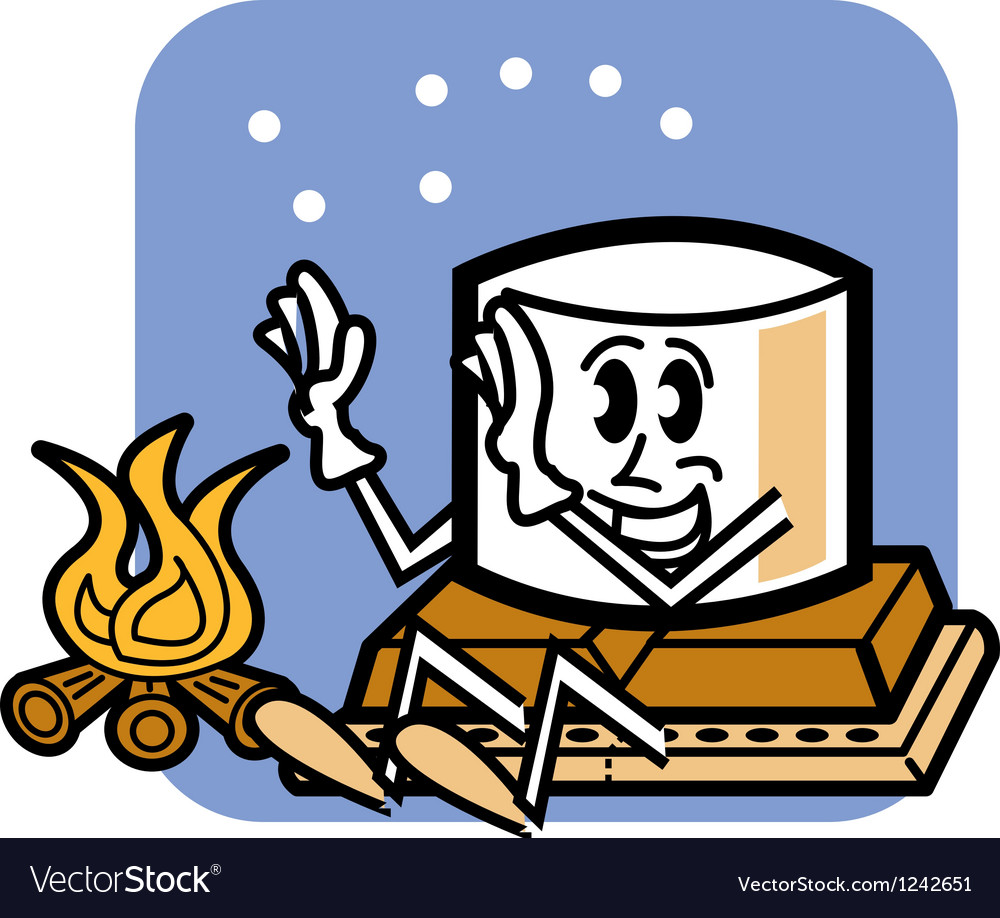 Outdoor marshmallow man vector | Price: 1 Credit (USD $1)