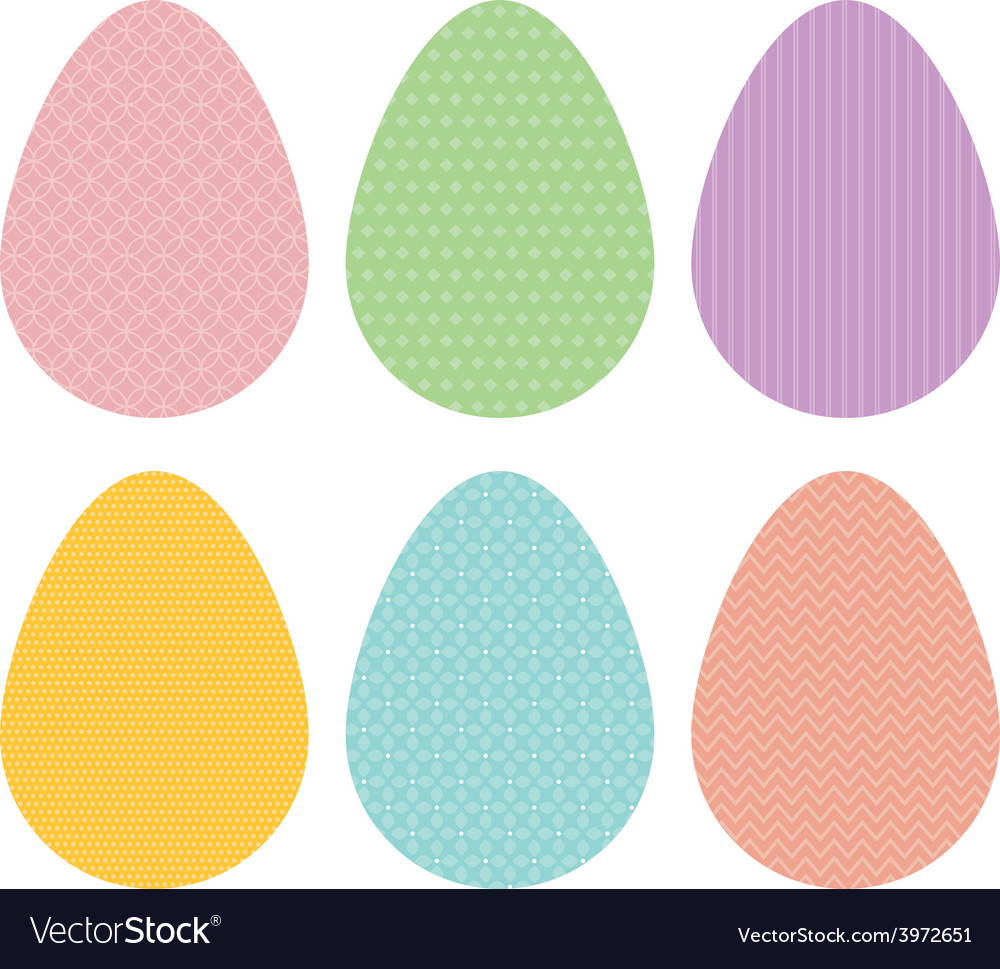 Patterned eggs pastel vector | Price: 1 Credit (USD $1)