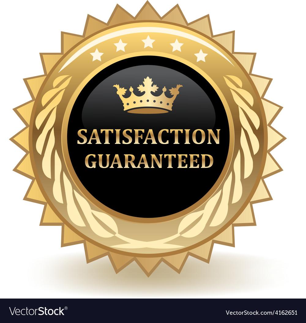 Satisfaction guaranteed vector   Price: 1 Credit (USD $1)
