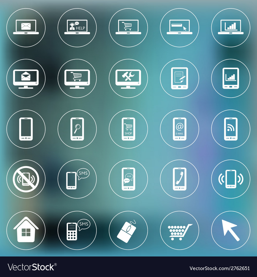 Set of icons for web and mobile smartphone laptop vector | Price: 1 Credit (USD $1)