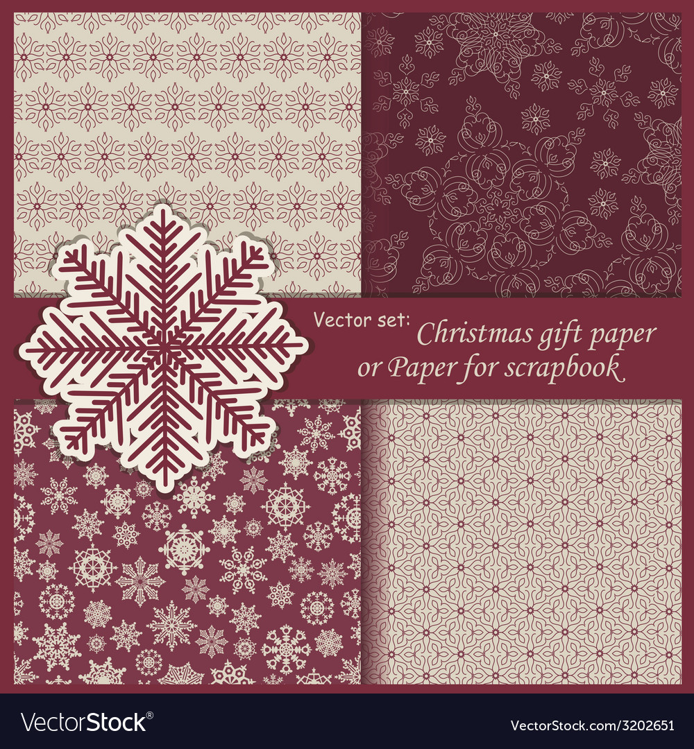 Set of wallpaper christmas gift paper vector | Price: 1 Credit (USD $1)