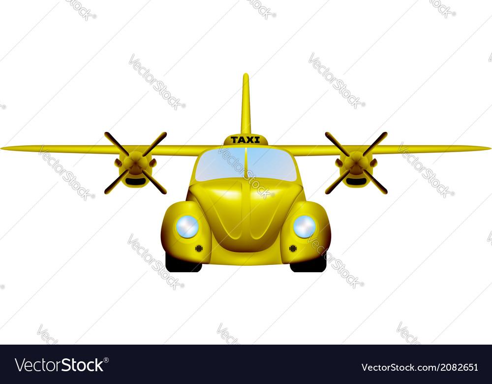 Taxi retro flying car vector | Price: 1 Credit (USD $1)