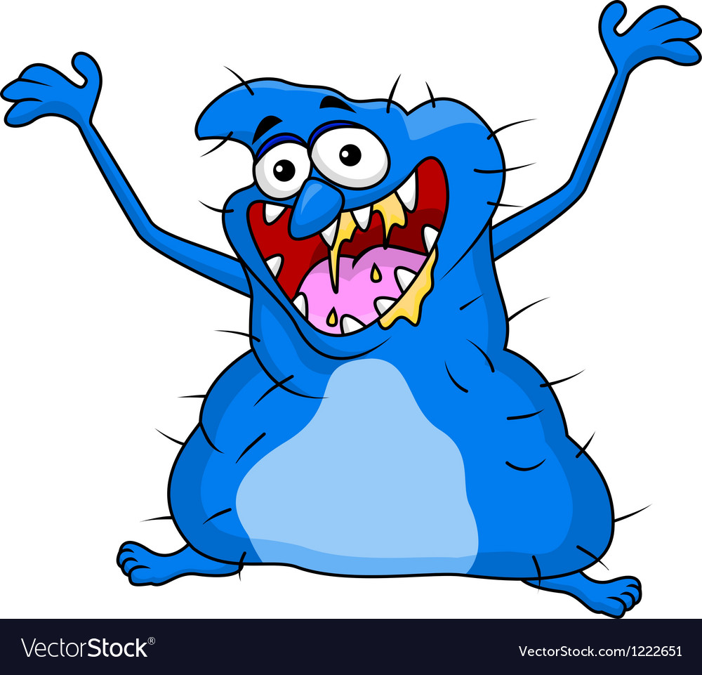 Ugly monster cartoon vector | Price: 3 Credit (USD $3)