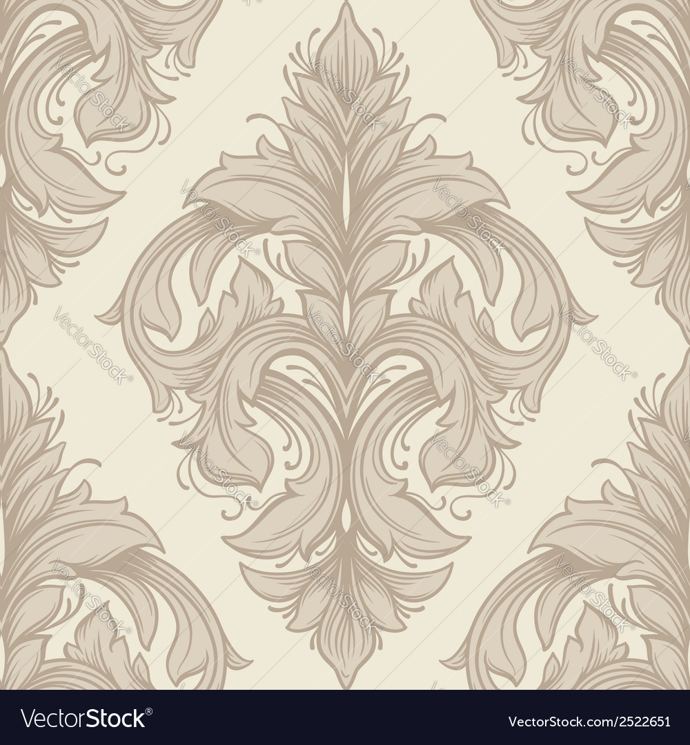 Vintage victorian seamless pattern vector | Price: 1 Credit (USD $1)