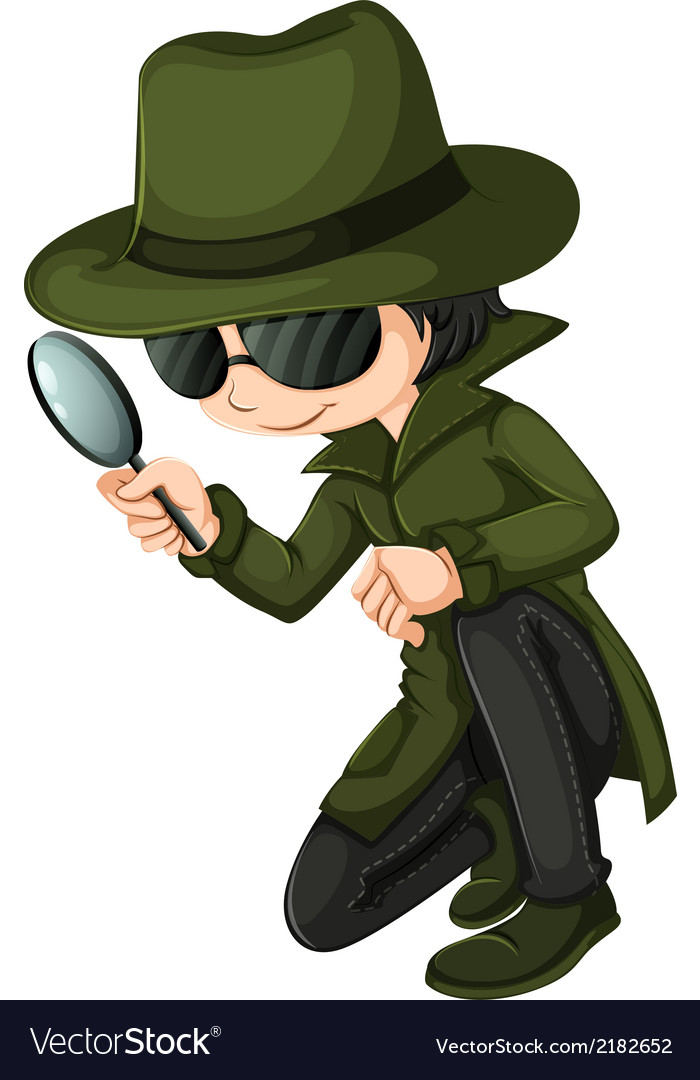 A smart young detective vector | Price: 1 Credit (USD $1)
