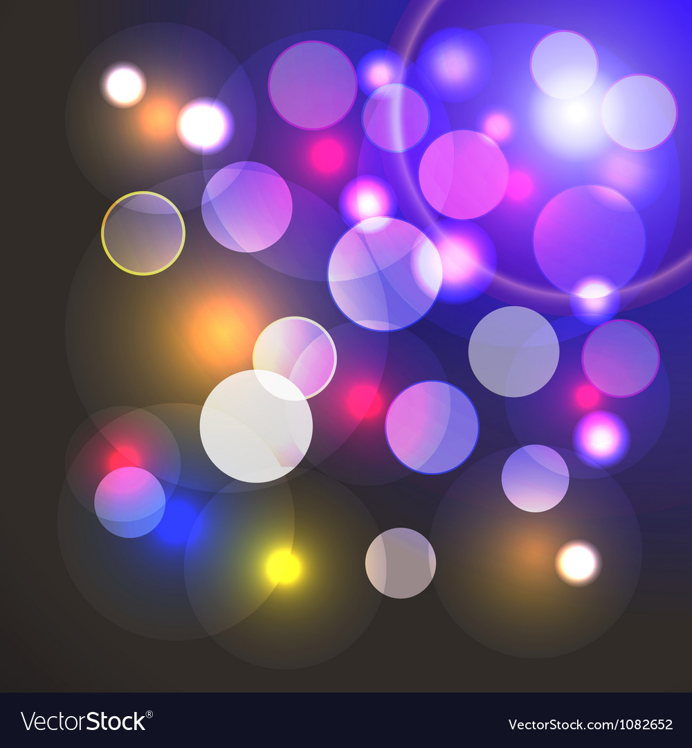 Abstract background with shiny colored lights vector | Price: 1 Credit (USD $1)