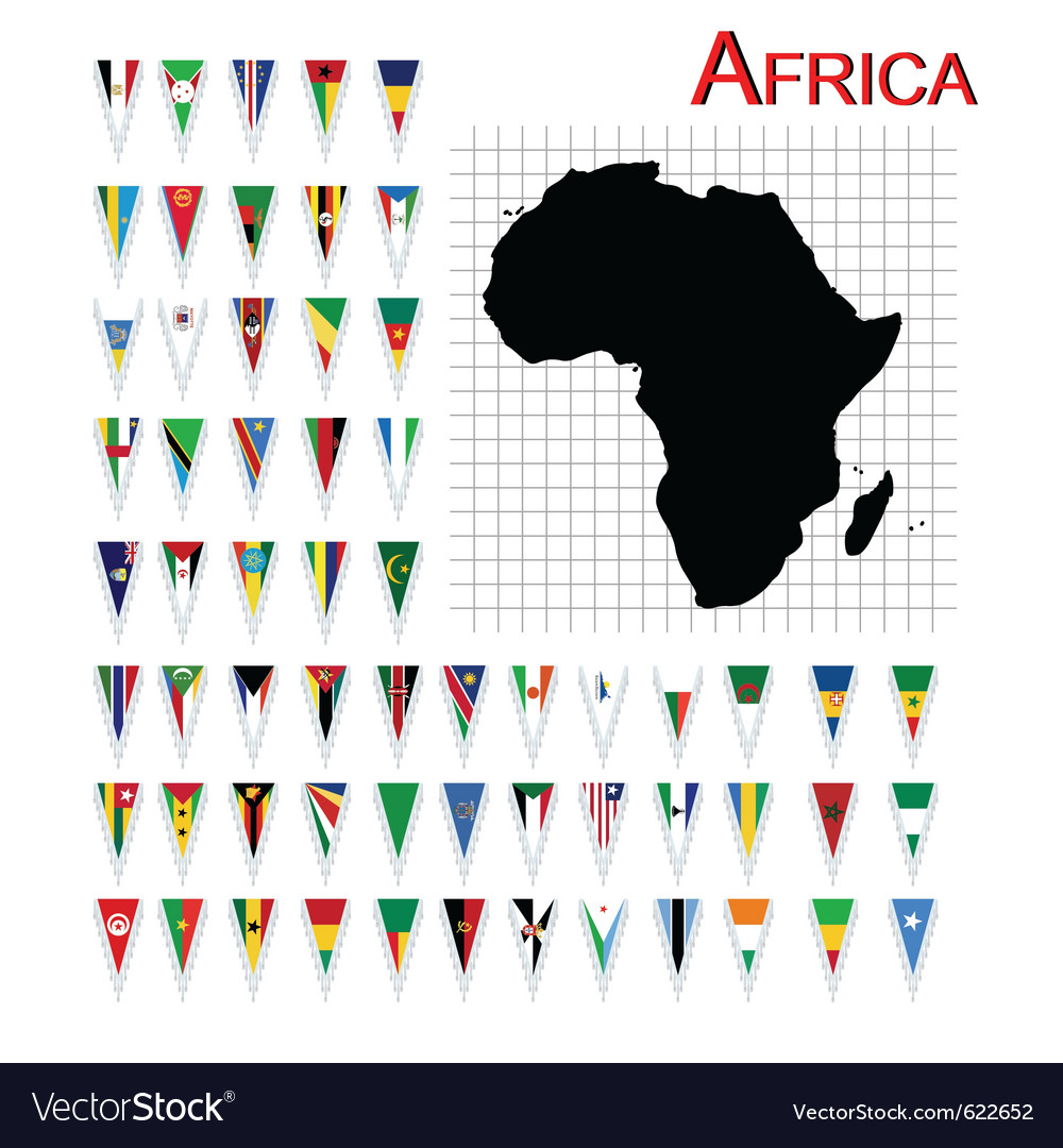 African flags vector | Price: 1 Credit (USD $1)