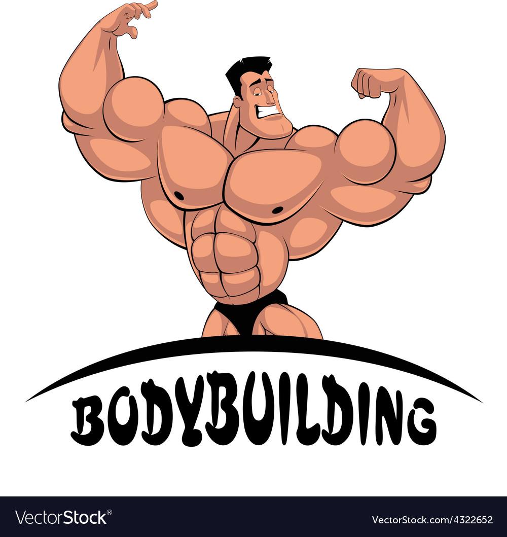 Caricature bodybuilder vector | Price: 1 Credit (USD $1)
