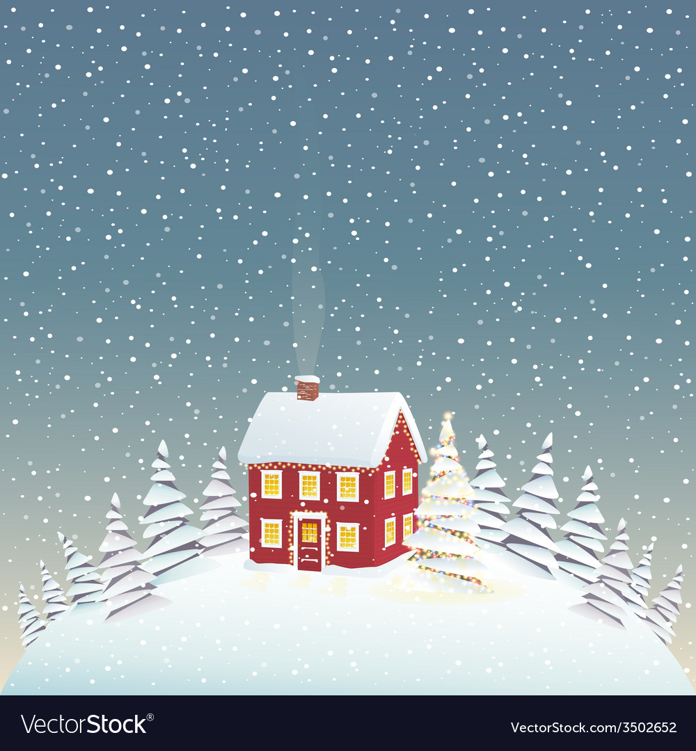 Christmas cozy house vector | Price: 1 Credit (USD $1)