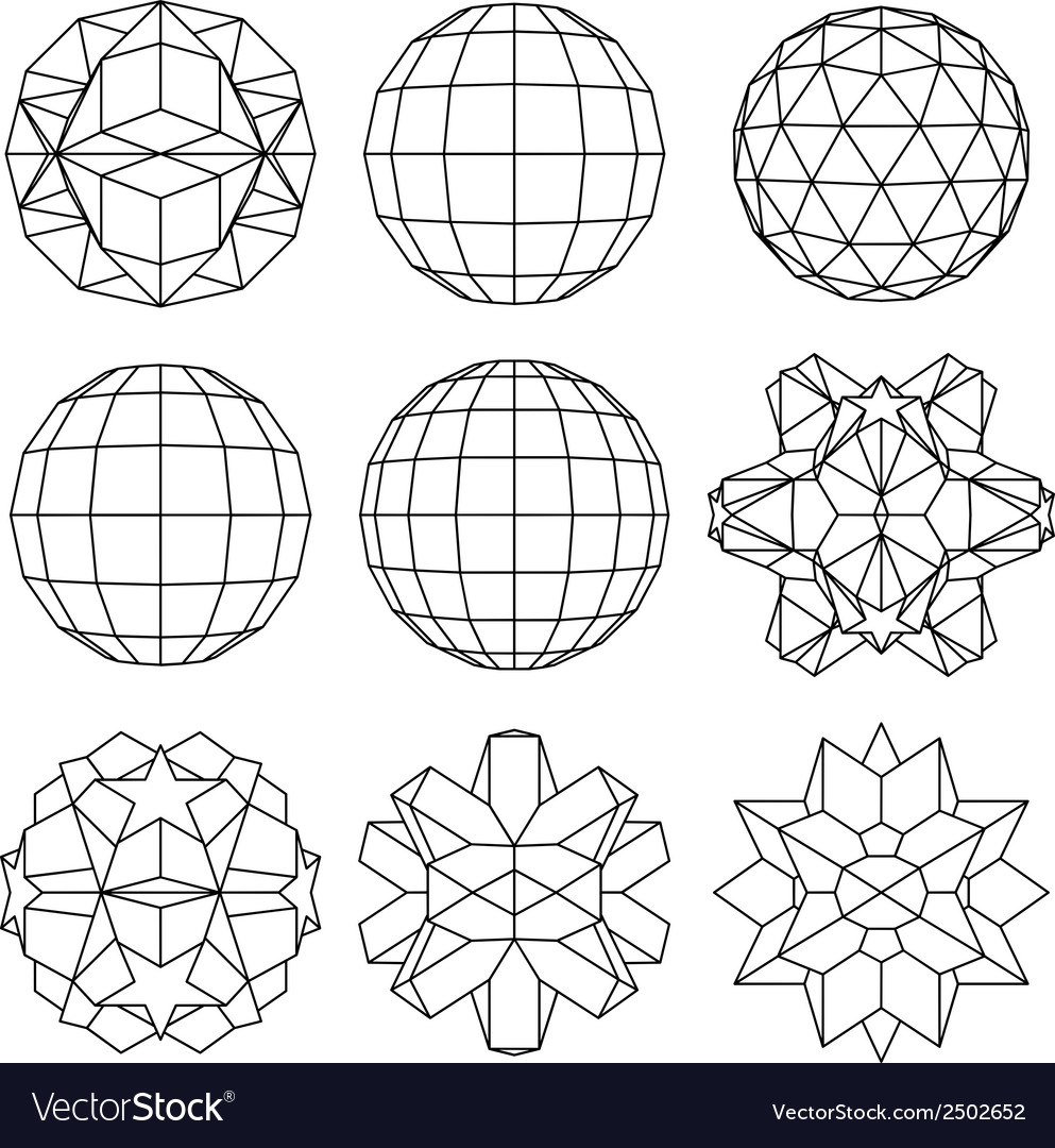 Collection of 9 black and white complex vector | Price: 1 Credit (USD $1)