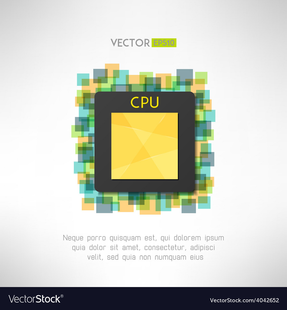 Cpu chop icon on technological geometrical vector | Price: 1 Credit (USD $1)
