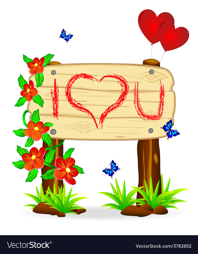 Declaration of love vector | Price: 1 Credit (USD $1)