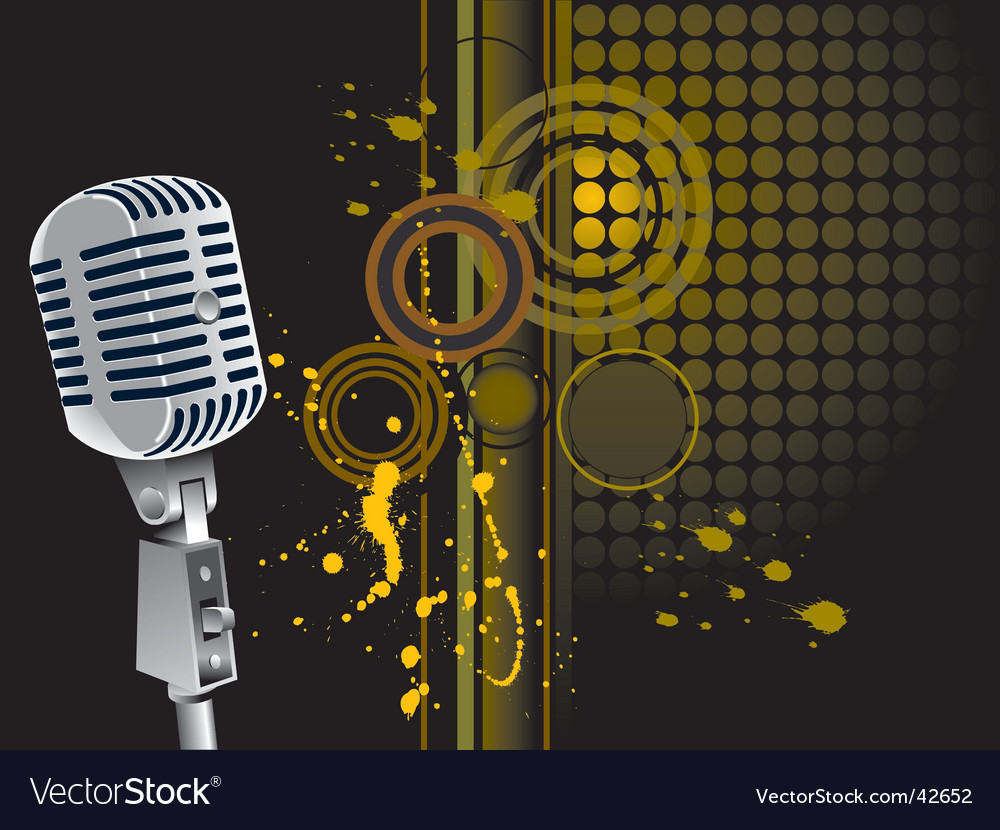 Grunge mic vector | Price: 1 Credit (USD $1)
