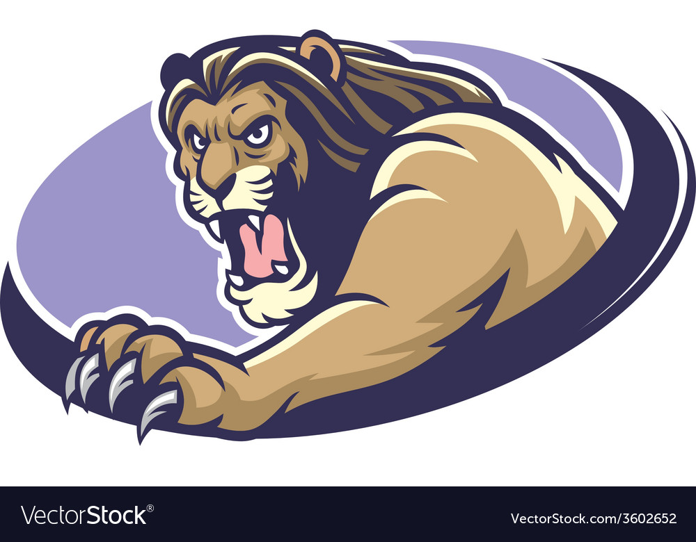 Lion mascot scratching vector | Price: 3 Credit (USD $3)