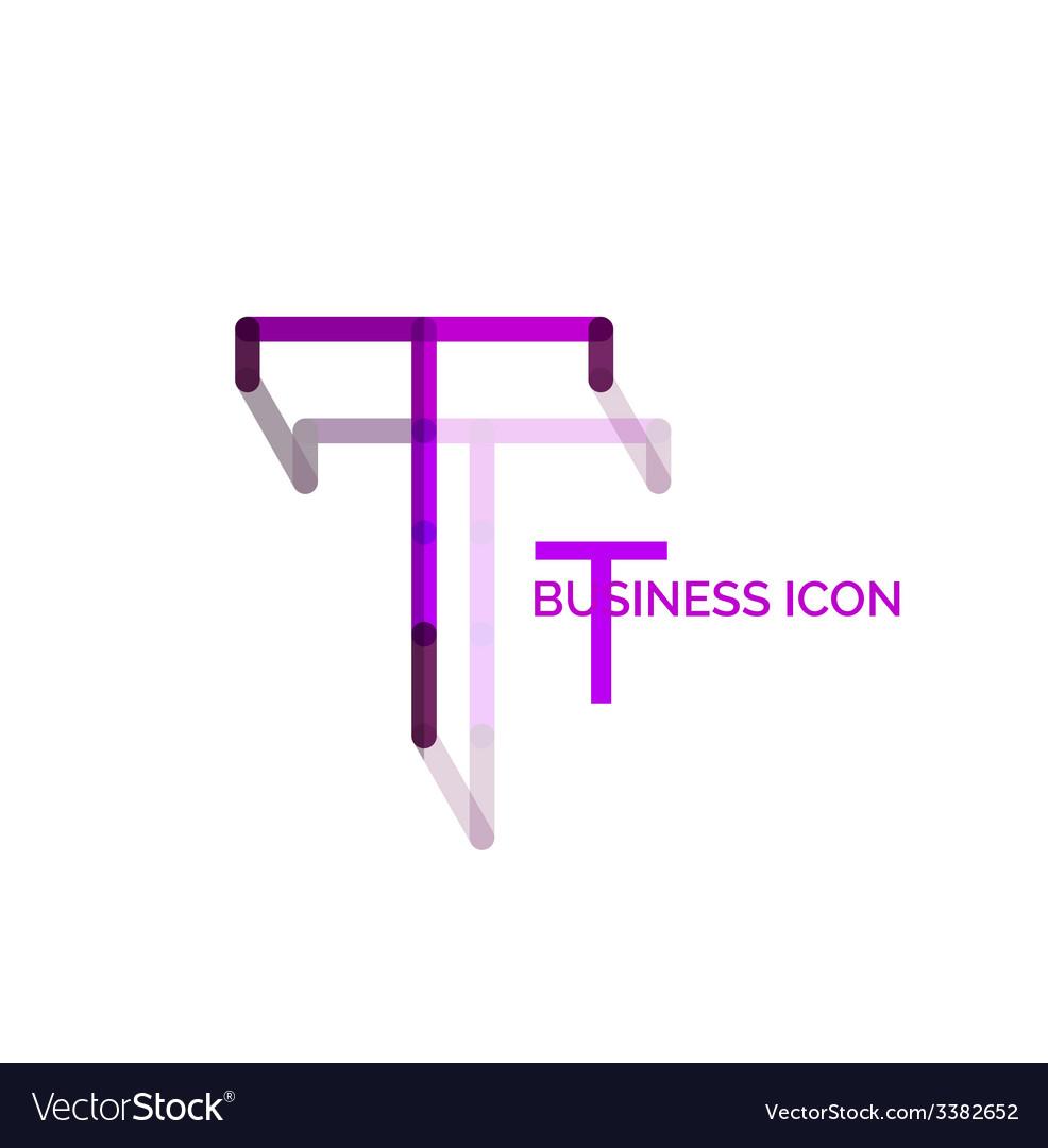 Minimal t font or letter logo design vector   Price: 1 Credit (USD $1)