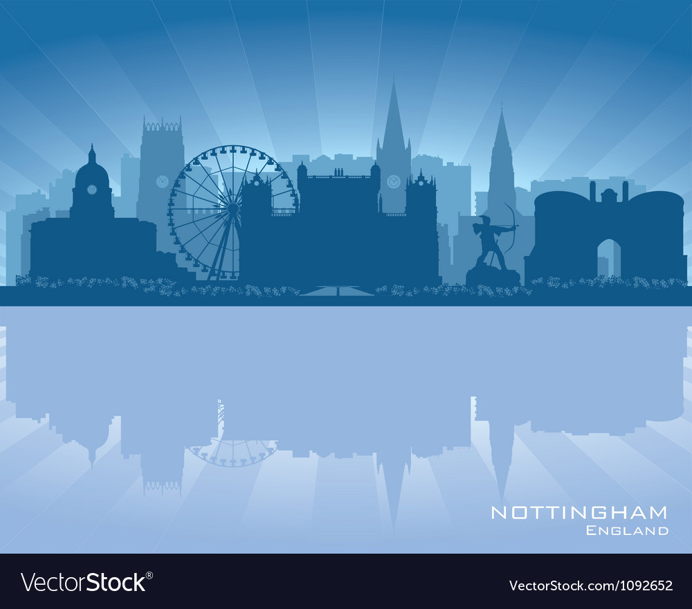 Nottingham england skyline vector | Price: 1 Credit (USD $1)