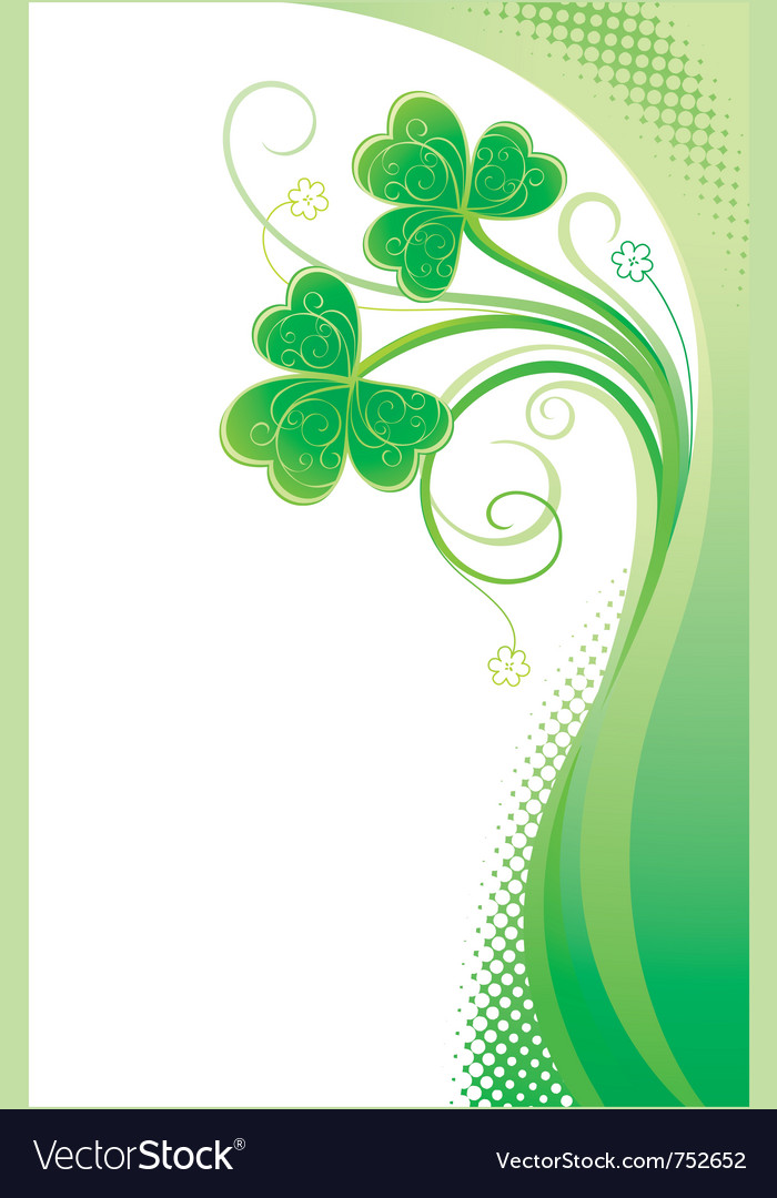 Patrick background with shamrock vector | Price: 1 Credit (USD $1)